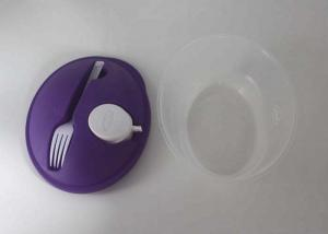 China Durable Plastic Lunch Containers / Take Away Transparent Plastic Salad Box on sale