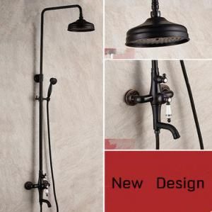 China 2016 Antique Black Bronze Brass Round Shower Head Rainfall Shower Tap TS655B on sale