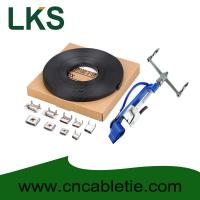 PVC coated Stainless Steel Banding 9.5x1.2mm, 12.7x1.2mm,19x1.2mm material SS304,316 with paper box and LKA tension tool