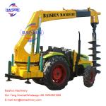 Electrical Works Garden Tractor Post Hole Digger , 3 Point Hitch Post Hole Digger