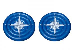 China Giant Summer Compass Rose Glowing Inflatable Swimming Pool Toys / Lake Floats And Loungers on sale
