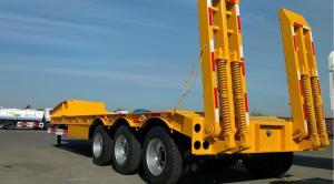 China 3 Axles Gooseneck Low Bed Trailer Transporter 70 Ton For Heavy Excavator Wheelloader on sale