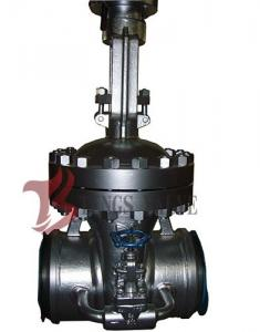 China Cast Steel Flex / Solid Wedge Gate Valve With Bypass Valve HF Seal API / DIN Standard on sale