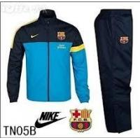 2012-13 Barcelona Woven Warm-up Tracksuit Dynamic Blue-Dark Obsidian-Tour Yellow