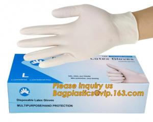 China Powder-free non-sterile 100% natural rubber latex examination gloves /gloves latex medical consumables bagease bagplasti on sale