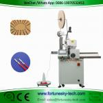 Fully Automatic Wire Cutting Single End  Stripping Single End Crimping Machine Custom For AWG10 Wire
