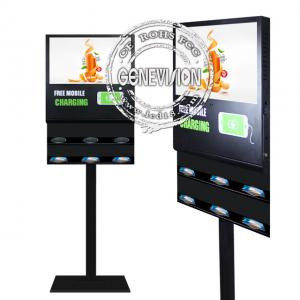 China Floor Stand Android Digital Signage 21.5'' 5G Wireless Phone Charging LCD Advertising Screen on sale