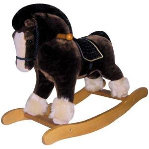China Plastic and iron spring 1 person plush rocking horse for 3--12 age kids on sale