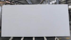 China Pure Snow Wwhite Quartz Stone Worktops , Interior Artificial Quartz Slabs on sale