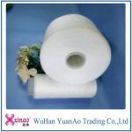 42/2 hilados de polyester hecho girar el 100% del hilo de coser en blanco del tubo del tinte
