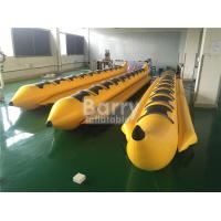 Yellow 8 Seats Inflatable Toy Boat Water Game Banana Boat Inflatable Water Toy