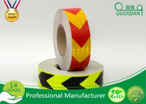 China Red / Orange Fluorescent Retro Reflective Tape Adhesive Warning Tape 5 Cm Width on sale