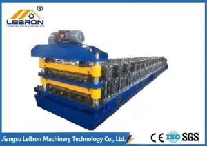 China 10-15m/min Double Layer Roll Forming Machine , Galvanized Roof Sheet Forming Machine on sale