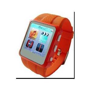 China Montre-bracelet intégrée de la photographie MP4 de batterie au lithium d'écran de véritable couleur d'AD668-A on sale