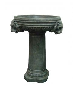China Simple Design Grey Bowl Outdoor Resin Fountains , Cast Stone Bird Baths on sale