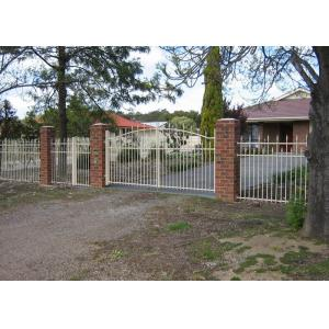 China Security Automatic Driveway Gates , Residential Sliding Gates Tubular Fencing on sale
