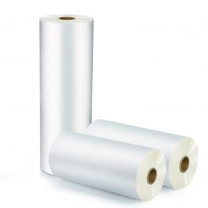 China Environmentally Friendly Corona Treated BOPP Thermal Lamination Film / Polyester Hot Laminating Film on sale