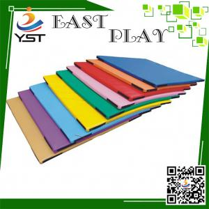 China Hand Make Residential Soft Play Sponge , Kids Soft Mat PU Leather Material on sale