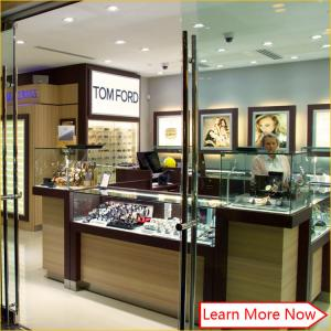 China High end customized design glass watch display,glass watch cabinet display showcase on sale