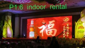 China HD P1.6 Indoor Full Color LED Display Custom RGB LED Advertising Video Display on sale
