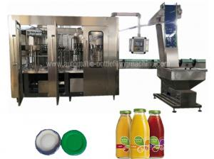 China Ss Glass Bottle Filling Machine Automatic Industrial Juice Making Machine Low Noise on sale