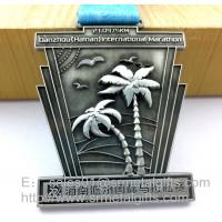 Custom antique nickel metal medals and medallions, China factory customized sports medals,