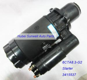 China Cummins 6CTA8.3 engine starter 3415537 Construction truck starter motor C3415537 on sale