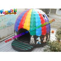 Crazy Disco Dome Commercial Bouncy Castles , Inflatable Music Jumping Castle 5 x 5 Meters