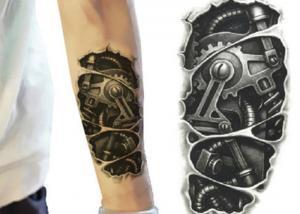 China Etiquetas engomadas temporales del tatuaje del brazo del bulto de la transferencia del agua favorables al medio ambiente on sale