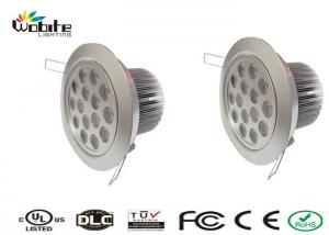 China CE ROHS Epistar Chip Recessed LED Ceiling Lights 15W IP44 90% Power Factor on sale