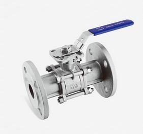 China 1000 Psi 3 Piece Stainless Steel Valves Flange Connection CE0036 Approved on sale