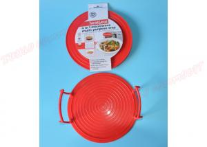 China Plate Stacker Lid / Tray Microwave Safe Plastic Dishes Multi Tasking Kitchen 3 In1 Dishes on sale