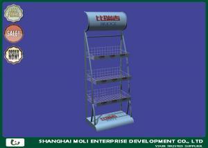 China Wire Basket Supermarket Four Shelves Store Display Racks 650*350*1600 on sale