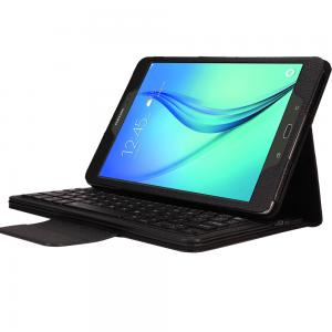 China Wireless Bluetooth Keyboard + Leather Case Stand for Samsung Tablet on sale