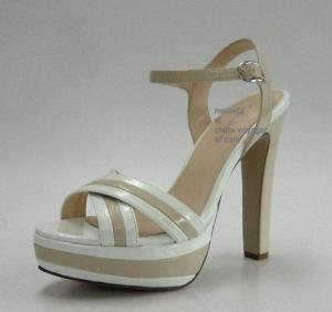 China White Chunky Heel Fashion Sandals on sale