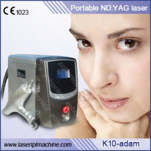 China Portable 1064nm & 532nm Q Switch ND Yag Laser Tattoo Removal Machine on sale