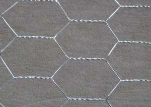 China 3 / 4 ''  Hole Galvanized Wire Hexagonal Wire Mesh , 0 . 5 MM Poultry Mesh Netting on sale