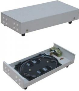 China 12 Port Wall Mount Fiber Optic Termination Box Cold Steel 330*183*70mm Szie on sale