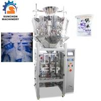 China Multihead Weigher Automatic Ice Cube Packing Machine Simultaneous Control on sale