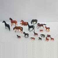 China 1:150 color horse,model animal,model horses,model materials,HO animals,painted horses,colorful horses on sale