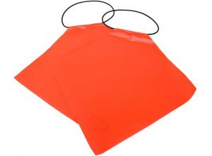 China Outdoor Waterproof Traffic Safety Flags PVC With Reflective Tape 30*30cm on sale