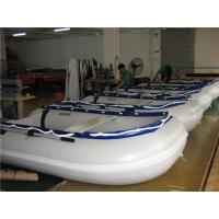 14.1 Ft Small Inflatable Boat With Motor , Dive Inflatable Power Boat Abrasion Proof