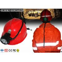 High Power Miners Cap Lamp With Rear Warning Light 15000 Lux Brightness
