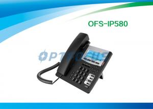 China O telefone do IP do ponto de entrada do CE, o serviço telefónico HD do SORVO de 3 maneiras ajustou o luminoso de 802.3af 128x48 on sale