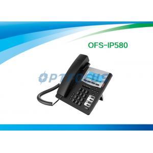 China Le téléphone d'IP de POE de la CE, le service de téléphonie HD de PETITE GORGÉE de 3 manières a fixé le contre-jour à la main de 802.3af 128x48 on sale