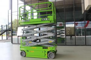 China Green Electric Man Lift 10m Aerial Work Platform With CE Certificate on sale