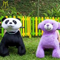 Hansel amusement electric plush walking animal toy rides hot products in the market