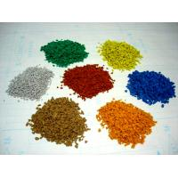 China Kindergarten EPDM Rubber Granules , 2-4mm / 3-5mm Vivid Color Recycled Rubber Crumb on sale