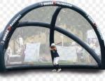 Inflatable sports fense net