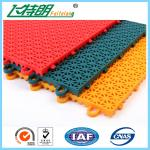 PP Installation Rubber Interlocking Floor Mats For Tennis / Basketball Court
